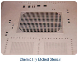 Chemically Etched Stencil